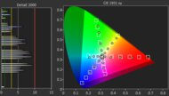 Sony X80J Color Gamut DCI-P3 Picture