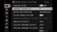 Fujifilm X-S10 Screen Menu Picture