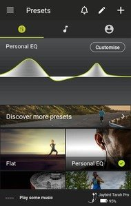 Jaybird Tarah Pro Wireless App Picture