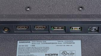 Samsung C27RG5 Inputs 1
