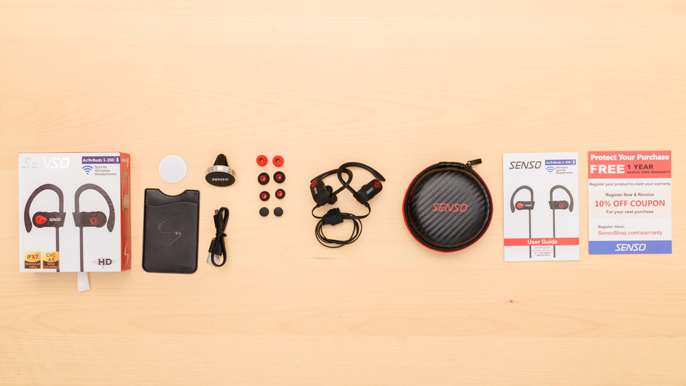 SENSO ActivBuds S-250 In the box Picture