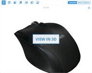 Logitech Marathon Mouse M705 3D Model