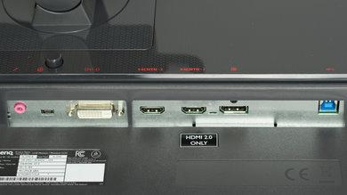 BenQ Zowie XL2540 Inputs 1