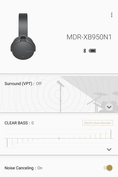 Sony MDR-XB950N1 Wireless App Picture