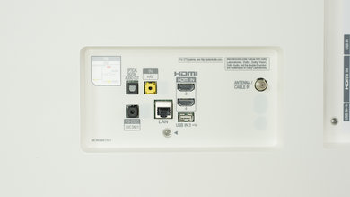 LG B7/B7A OLED Rear Inputs Picture