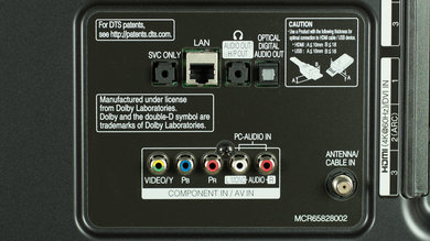 LG UF8500 Rear Inputs Picture