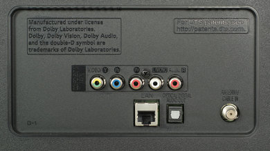 LG LJ5500 Rear Inputs Picture