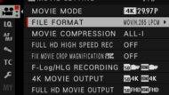 Fujifilm X-T4 Screen Menu Picture