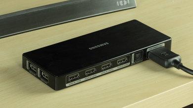 Samsung JU7500 Rear Inputs Picture
