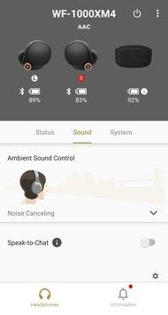 Sony WF-1000XM4 Truly Wireless App Picture