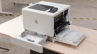 HP Color LaserJet Enterprise M554dn Build Quality Close Up