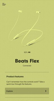 Beats Flex Wireless App Picture