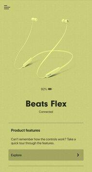 Beats Flex Wireless App Picture