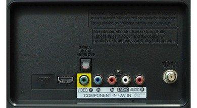 LG LN530B Rear inputs