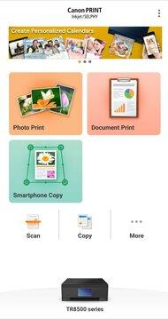 Canon PIXMA TR8520 App Printscreen