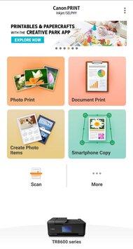 Canon PIXMA TR8620 App Printscreen