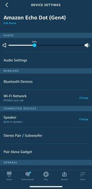 Amazon Echo Dot Gen 4 App Picture