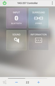 Yamaha YAS-207 App image