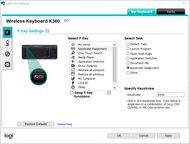 Logitech K360 Software Picture
