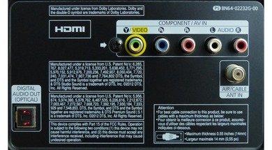 Samsung F5300 Rear inputs