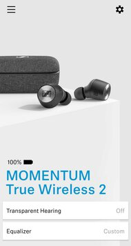 Sennheiser MOMENTUM True Wireless 2 App Picture