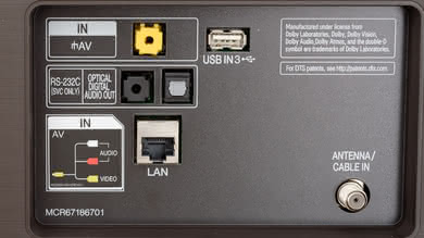 LG SK9500 Rear Inputs Picture