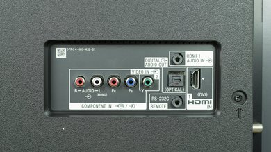 Sony X900E Rear Inputs Picture