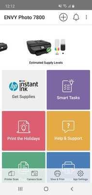 HP ENVY Photo 7855 App Printscreen