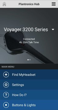 Plantronics Voyager 3200 Bluetooth Headset App Picture