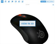 SteelSeries Sensei RAW 3D Model