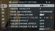 Fujifilm X-Pro3 Screen Menu Picture