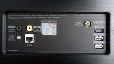 LG E8 OLED Rear Inputs Picture