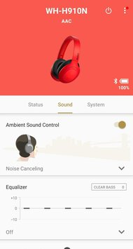 Sony WH-H910N/h.ear on 3 Wireless App Picture