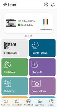 HP OfficeJet Pro 9025e App Printscreen