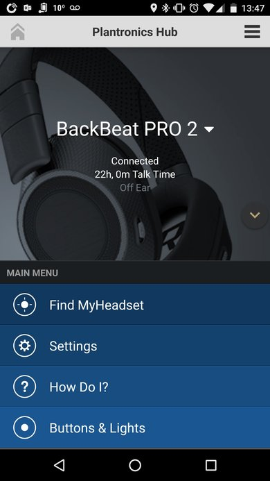 Plantronics BackBeat Pro 2 App Picture