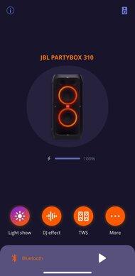 JBL PartyBox 310 App Picture