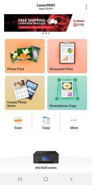 Canon PIXMA MG3620 App Printscreen