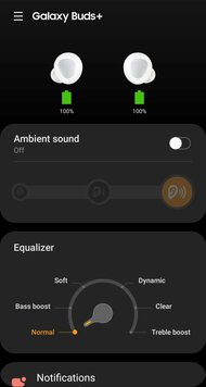 Samsung Galaxy Buds+ Truly Wireless App Picture