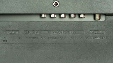 Sharp LE653U Rear Inputs Picture