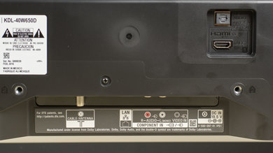 Sony W650D Rear Inputs Picture