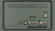 LG LF5500 Rear Inputs Picture