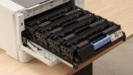 HP Color LaserJet Pro M255dw Cartridge Picture In The Printer