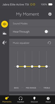 Jabra Elite Active 75t Truly Wireless App Picture