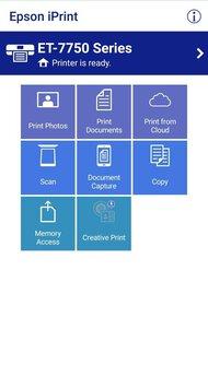 Epson Expression Premium ET-7750 EcoTank App Printscreen
