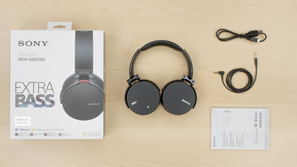Sony MDR-XB950B1 In the box Picture