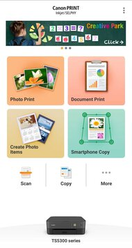 Canon PIXMA TS5320 App Printscreen