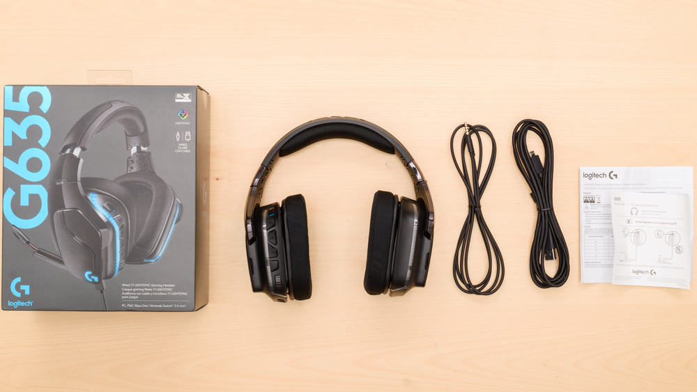 Logitech G635 Gaming Headset In the box Picture