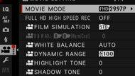 Fujifilm X-T30 Screen Menu Picture