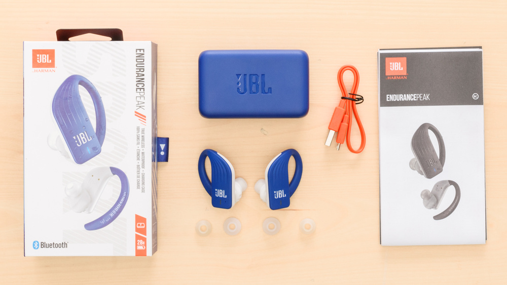 JBL Endurance Peak Truly Wireless In the box Picture