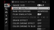 Fujifilm X100V Screen Menu Picture